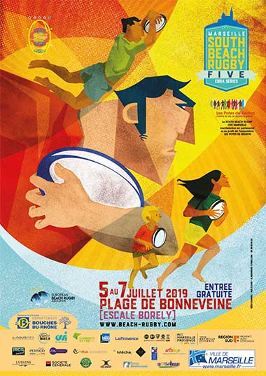 affichage beach rugby five marseille 2019