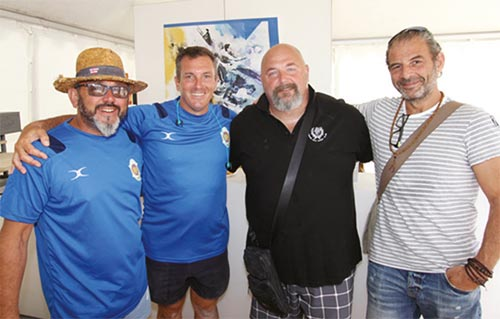 equipe organisation Beach Rugby Five Marseille 2018
